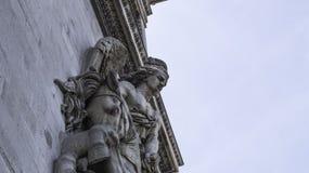 Arc de Triomphe de l`Étoile. The Arc de Triomphe de l`Étoile French pronunciation:Triumphal Arch of the Star is one of the most famous monuments in Paris Stock Photography