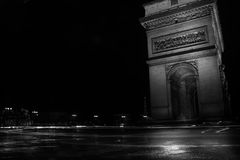 Arc de Triomphe de l`Étoile. Is one of the most famous monuments in Paris, standing at the western end of the Champs-Élysées at the center of Place Charles Stock Photo