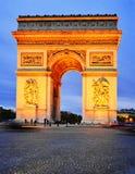 Arc de Triomphe de l'Etoile, θριαμβευτική αψίδα, Παρίσι, Γαλλία Στοκ Εικόνες