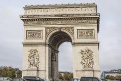 Arc de Triomphe de l'Etoile στη θέση του Charles de Gaulle, Παρίσι, Γαλλία Στοκ φωτογραφία με δικαίωμα ελεύθερης χρήσης