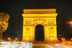 Arc de Triomphe de l'Etoile στο Παρίσι Στοκ εικόνα με δικαίωμα ελεύθερης χρήσης