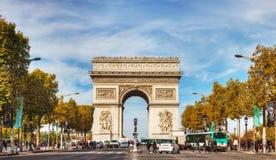 Arc de Triomphe de l'Etoile στο Παρίσι Στοκ Φωτογραφία