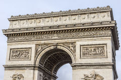 Arc de Triomphe de l'Etoile on Charles de Gaulle Place, Paris, France. Arc is one of the most famous monuments in Paris Royalty Free Stock Images