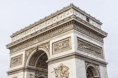 Arc de Triomphe de l'Etoile on Charles de Gaulle Place, Paris, France. Arc is one of the most famous monuments in Paris Stock Photos