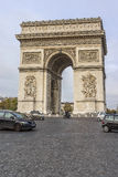 Arc de Triomphe de l'Etoile on Charles de Gaulle Place, Paris, France Royalty Free Stock Photos