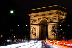 Arc de Triomphe de l'Etoile em Paris Fotos de Stock Royalty Free
