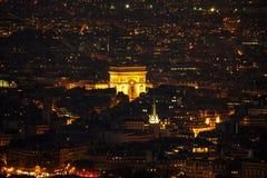 Arc de Triomphe DE l ` Etoile in Parijs Royalty-vrije Stock Afbeeldingen