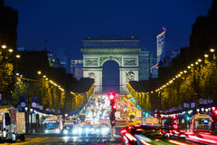 Arc de Triomphe de l`Etoile in Paris. France Royalty Free Stock Image