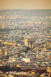 Arc de Triomphe de l`Etoile in Paris Royalty Free Stock Photo