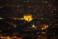 Arc de Triomphe de l`Etoile in Paris. France Royalty Free Stock Images