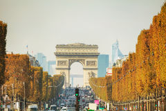 Arc de Triomphe de l`Etoile in Paris. France Stock Photos