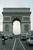 Arc De Triomphe de lEtoile, Paris, France. The Arc de Triomphe honours those who fought and died for France in the French Revolutionary and the Napoleonic Stock Photography