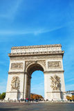 The Arc de Triomphe de l`Etoile in Paris, France. PARIS - NOVEMBER 1: The Arc de Triomphe de l`Etoile on November 1, 2016 in Paris, France. It`s one of the most Royalty Free Stock Photo