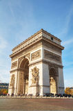 The Arc de Triomphe de l`Etoile in Paris, France. PARIS - NOVEMBER 1: The Arc de Triomphe de l`Etoile on November 1, 2016 in Paris, France. It`s one of the most Royalty Free Stock Photos