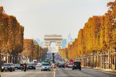 Arc de Triomphe de l`Etoile in Paris. PARIS - NOVEMBER 1: The Arc de Triomphe de l`Etoile on November 1, 2016 in Paris, France. It`s one of the most famous Royalty Free Stock Photography