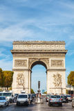 Arc de Triomphe de l'Etoile in Paris. PARIS - OCTOBER 10: The Arc de Triomphe de l'Etoile on October 9, 2014 in Paris, France. It's one of the most famous Stock Photo