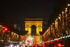 The Arc de Triomphe de l'Etoile in Paris Stock Images