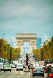 Arc de Triomphe de l'Etoile in Paris Stock Photography