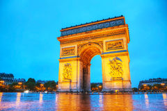 Arc de Triomphe de l'Etoile in Paris. Arc de Triomphe de l'Etoile (The Triumphal Arch) in Paris early in the morning Royalty Free Stock Image