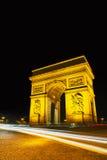 Arc de Triomphe de l'Etoile in Paris Royalty Free Stock Photography