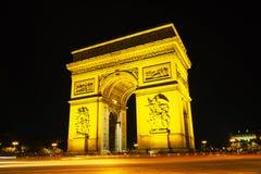 Arc de Triomphe de l'Etoile in Paris Royalty Free Stock Images
