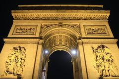 Arc de triomphe de létoile, Paris, France Royalty Free Stock Images