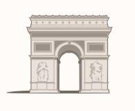 Arc De Triomphe de l`Étoile Stock Photos
