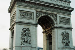 Arc De Triomphe de lEtoile, Paris, France. The Arc de Triomphe honours those who fought and died for France in the French Revolutionary and the Napoleonic Stock Image