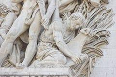 Arc de Triomphe Detail Στοκ φωτογραφία με δικαίωμα ελεύθερης χρήσης