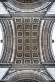 Arc de Triomphe detail. Arc de Triomphe arch detail in Paris, France Royalty Free Stock Photography