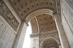 Arc de Triomphe detail Royalty Free Stock Images