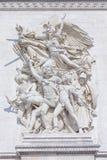 Arc de Triomphe Detail. In Paris, France Stock Photo