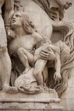 Arc de Triomphe. Details of sculptures adorning the Arc de Triomphe, Paris, France Stock Images