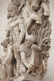 Arc de Triomphe. Details of sculptures adorning the Arc de Triomphe, Paris, France Stock Photo