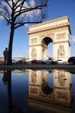 Arc de Triomphe dopo pioggia Fotografia Stock