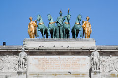 Arc de Triomphe du ιπποδρόμιο στο Παρίσι, Γαλλία. Στοκ Εικόνα