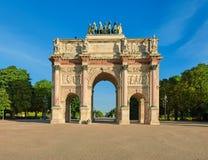 Arc de Triomphe du ιπποδρόμιο στο Παρίσι, μπροστινή άποψη Στοκ φωτογραφία με δικαίωμα ελεύθερης χρήσης