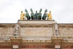 Arc de Triomphe du ιπποδρόμιο στο Παρίσι Στοκ Φωτογραφίες
