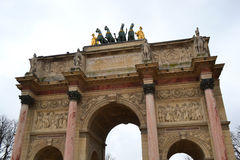 Arc de Triomphe du Caroussel, Paris. Near the museum of Louvre Stock Images