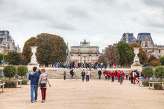 Arc de Triomphe du Carrossel em Paris Imagens de Stock Royalty Free