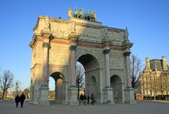 Arc de Triomphe du Carrossel em Paris Fotografia de Stock Royalty Free