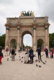 Arc de Triomphe du Carrossel, Paris Imagem de Stock