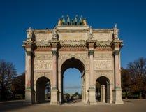 Arc de Triomphe du Carrousel à Paris Photographie stock