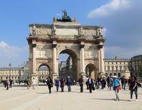 Arc de Triomphe du Carrousel à Paris, France Photographie stock