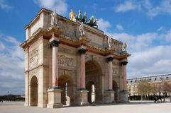 Arc De Triomphe Du Carrousel. On a sunny day Stock Image