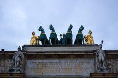 Arc de Triomphe du Carrousel imágenes de archivo libres de regalías