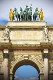 Arc de Triomphe du Carrousel. Near the Louvre Museum in Paris, france Royalty Free Stock Photos