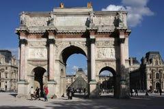 Arc de Triomphe du Carrousel. The Arc de Triomphe du Carrousel is a triumphal arch in Paris, located in the Place du Carrousel on the site of the former Royalty Free Stock Photography