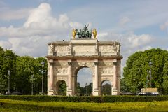 Arc de Triomphe du Carrousel Royalty Free Stock Images