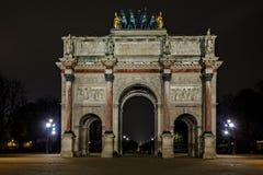 Arc de Triomphe du Carrousel. PARIS-NOV 10:Triumphal Arch (Arc de Triomphe du Carrousel) at Tuileries gardens in Paris,France on Nov 10,2012. The monument was Stock Photo